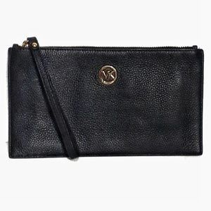 Michael Kors Pebble Grain Leather Envelope Clutch